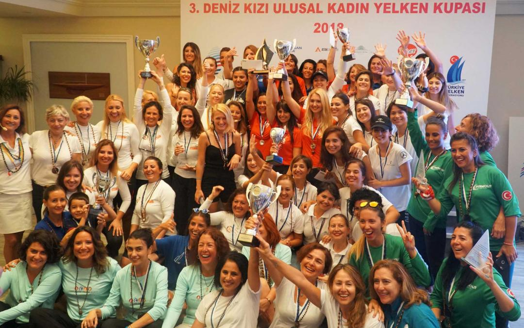 3.Deniz Kızı Ulusal Kadın Yelken Kupasıyarışları sona erdi!